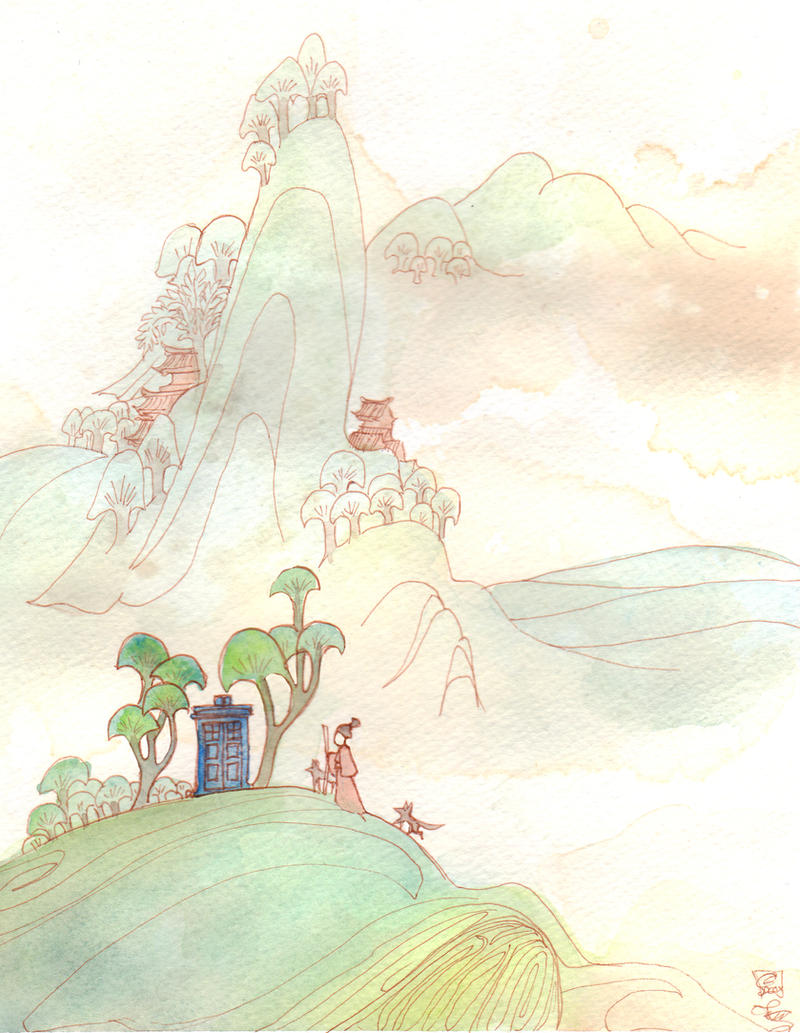 Through Time: Misty Mountain Dream by dancingheron