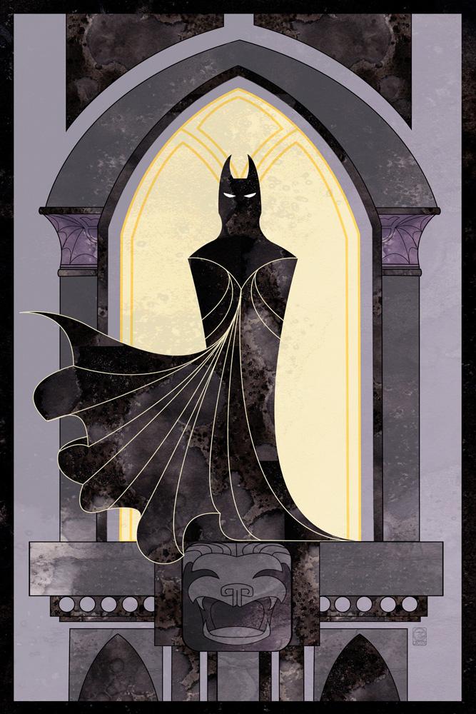 Gothic Batman by dancingheron