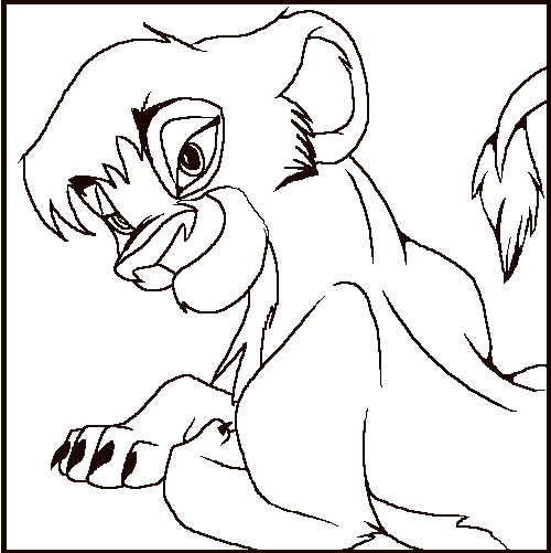 coloring pages lion king 2 - photo#16
