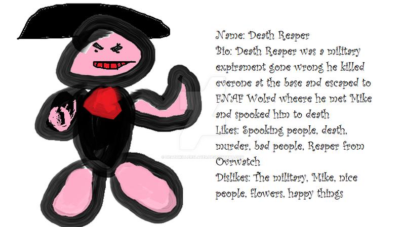 Death reaper fnaf original character by deathkillerslayer
