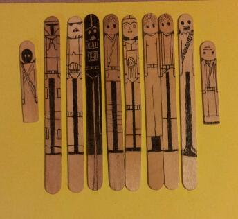 Star Wars Popsicle Sticks by FyreLilly