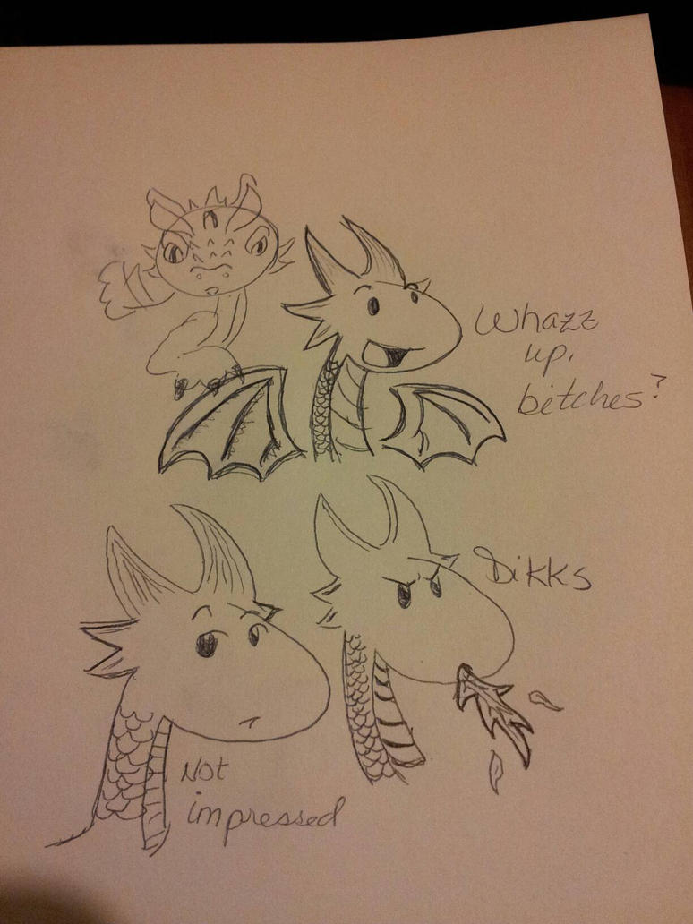 Dragon doods by FyreLilly