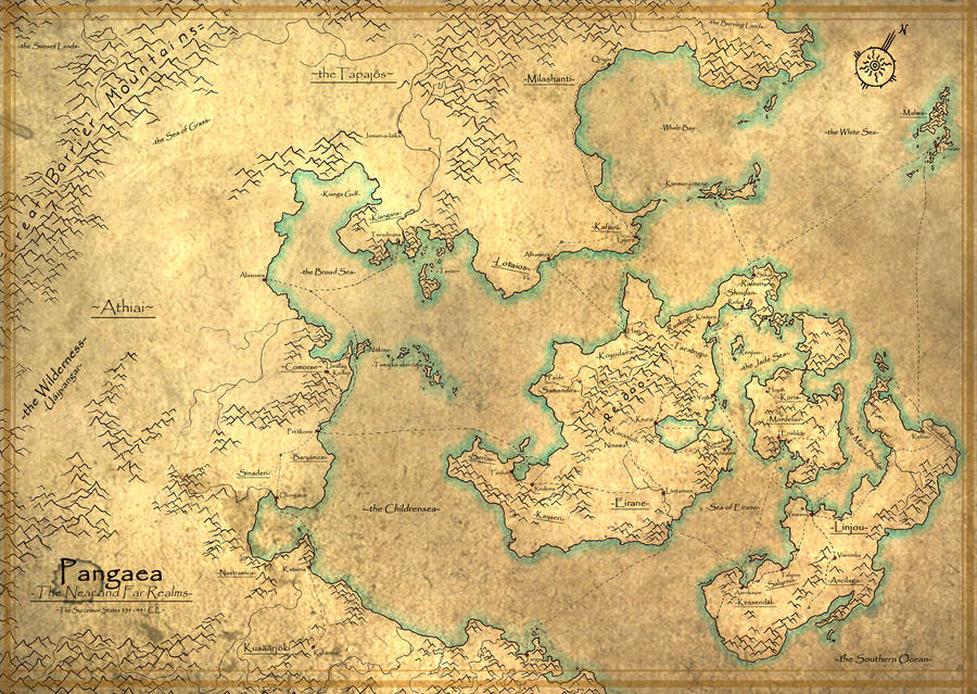 MAP Pangaea Successor States By HurricaneFoundry On DeviantArt - Pangaea map