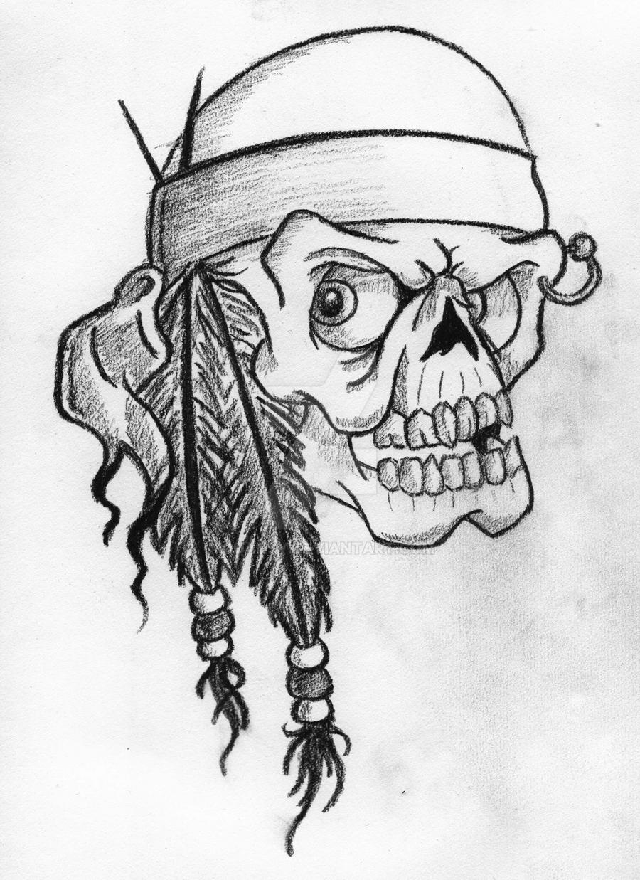 Uncategorized Indian Drawing indian skull by horribleescape on deviantart horribleescape