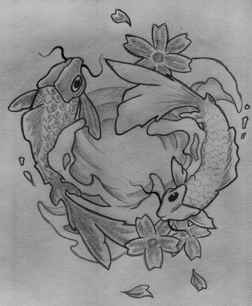 Black And White Koi Fishes By Horribleescape On Deviantart