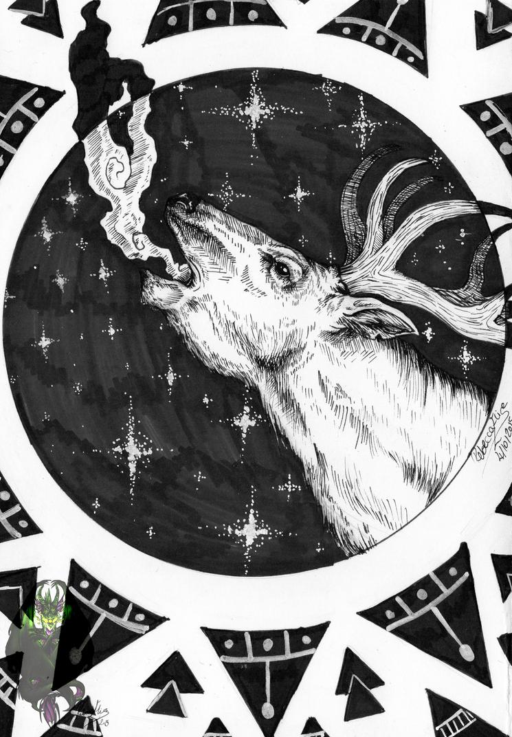 Inktober- Day 1 Night Wish by DragonGirl787