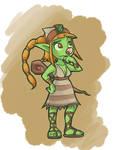 Cthia the Goblin Shaman by RealBigNUKE