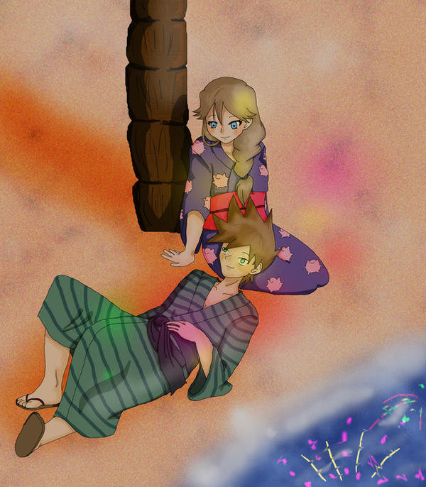 Under the fireworks by SipsiNekku