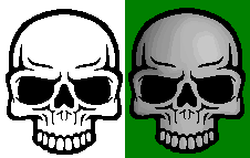 Skull Pixel Art by gigobyte98