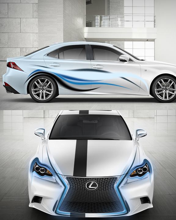 Blue Shadow Lexus IS 2014 Design by Tibneo