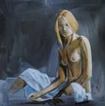 Untitled, 2012, oil on Wood, 30x30 cm