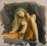 Untitled, 2010, oil on wood, 30x30cm