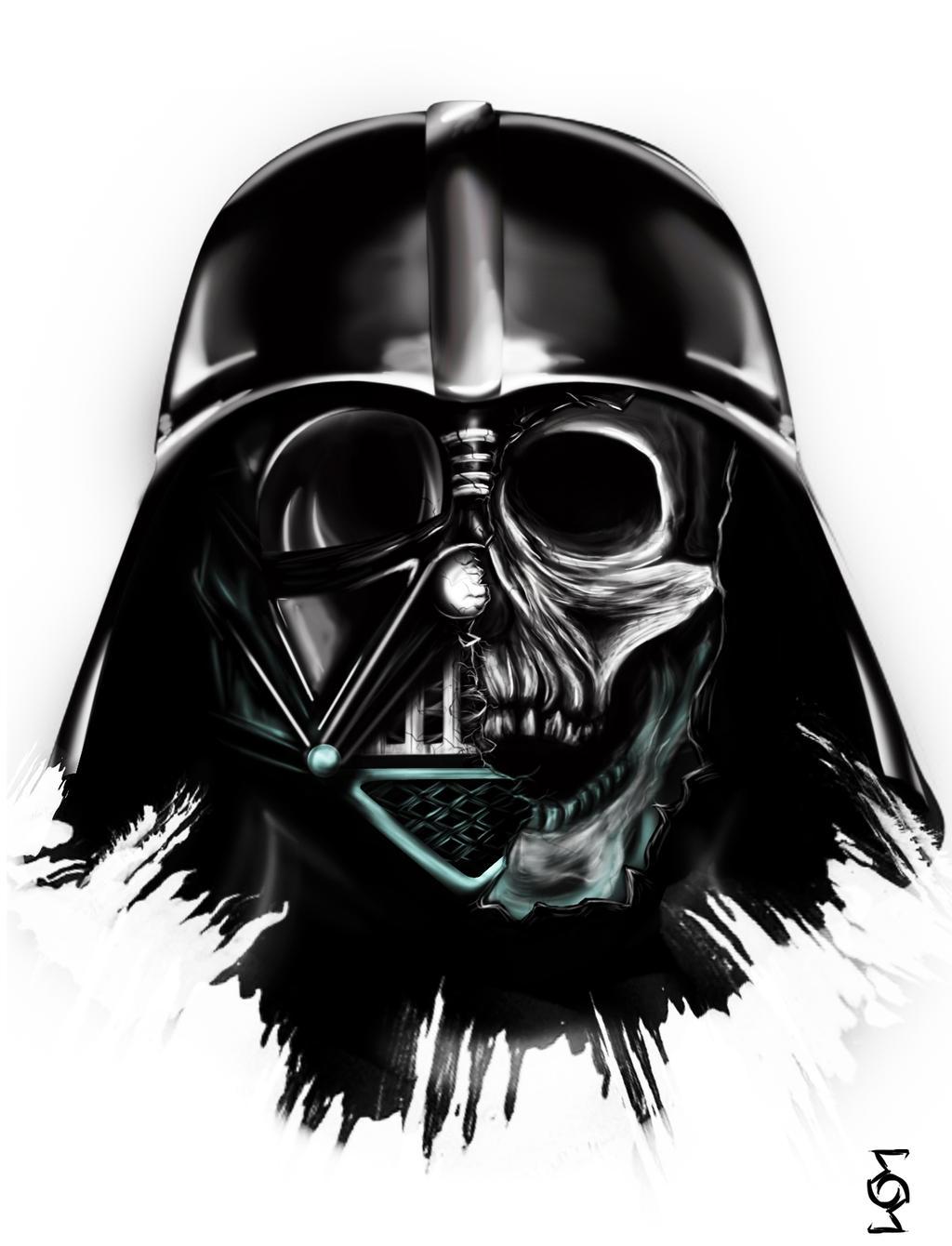Darth Vader Mask Drawing Behind the Mask- Darth...