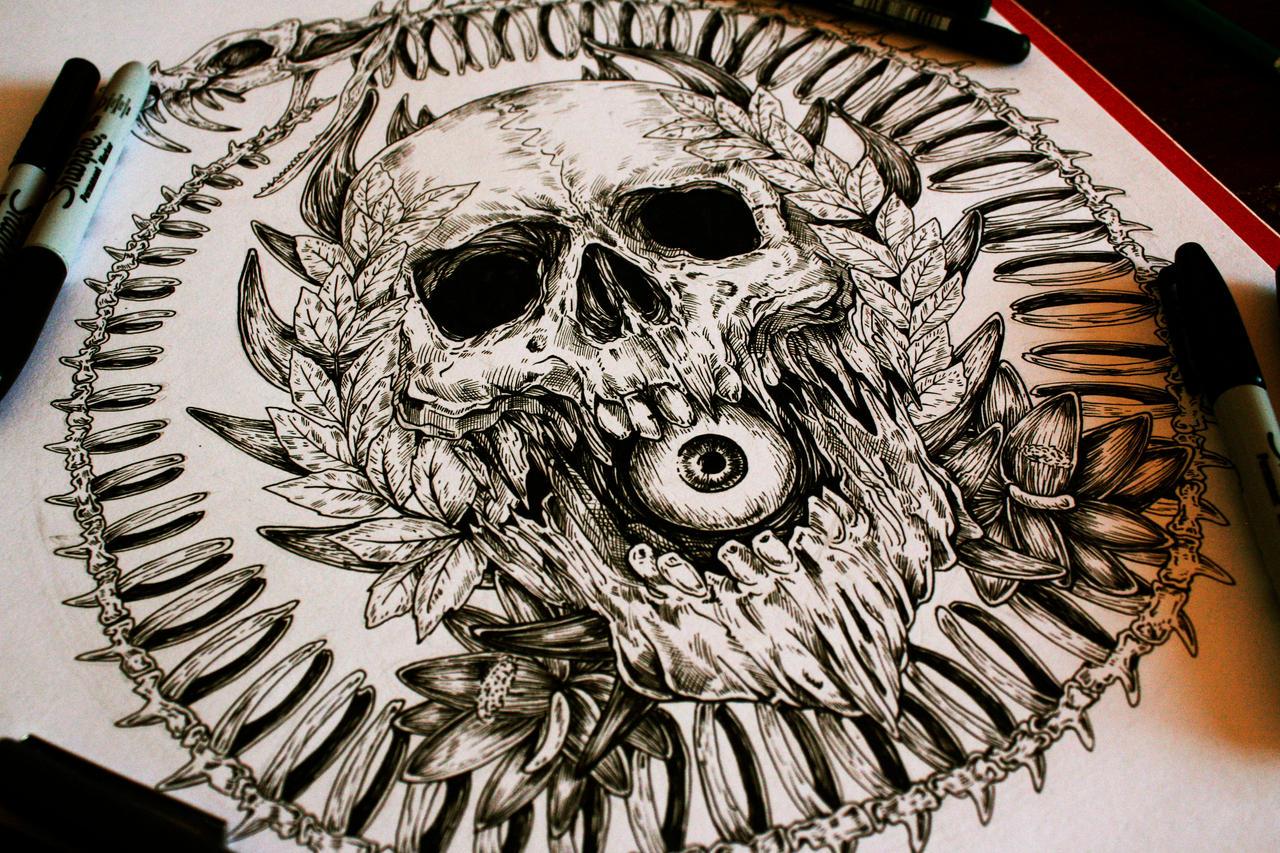 Uroboros- Commission tattoo design by EG-TheFreak