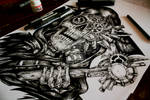 Steampunk Reaper- Tattoo commision