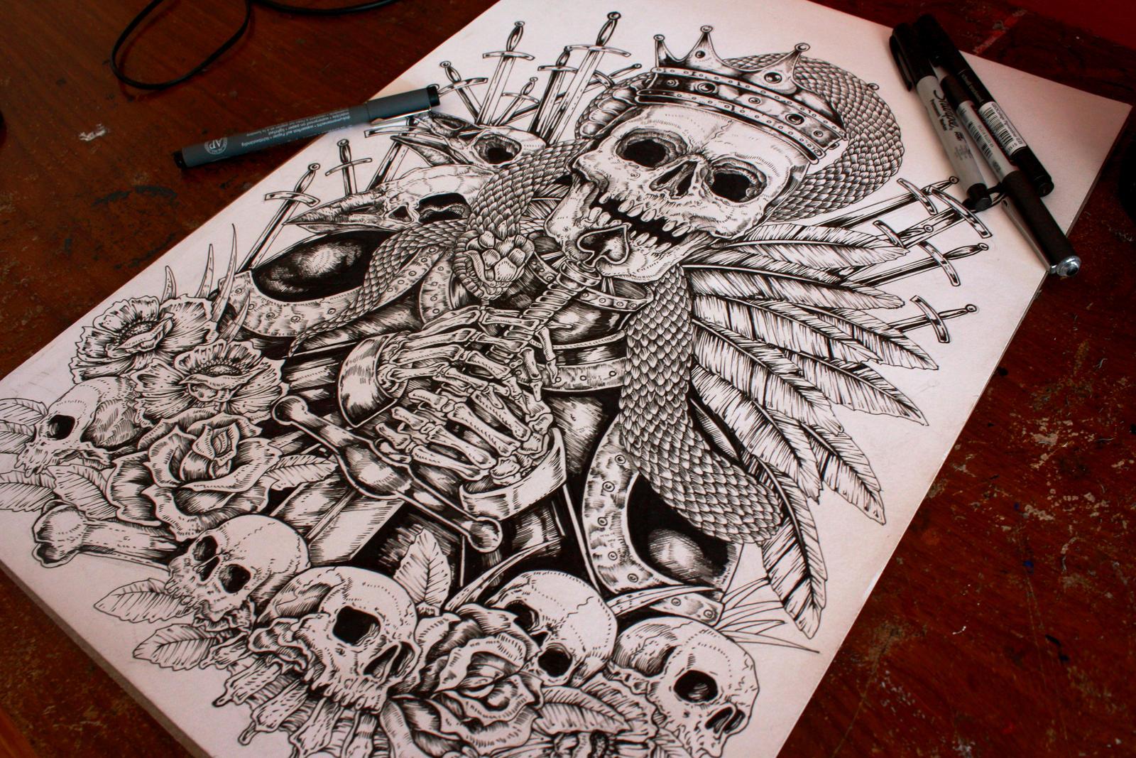badass skull wallpaper