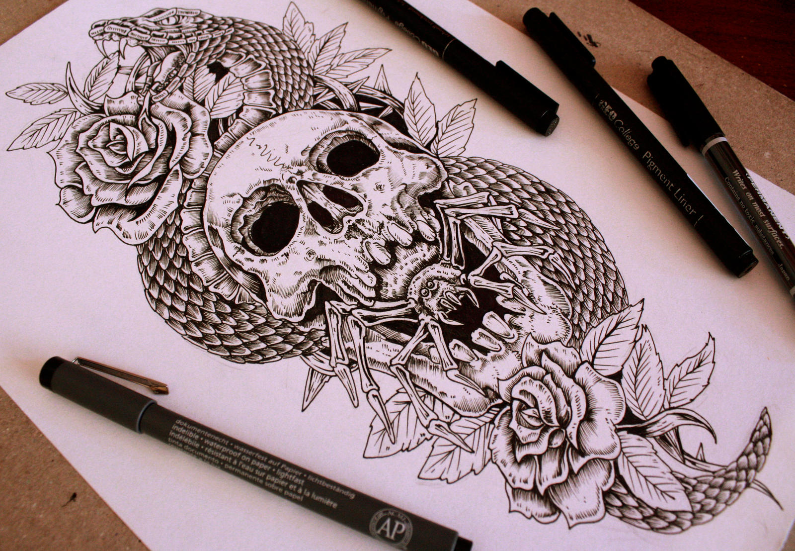 Forearm tattoo desing sold by eg thefreak on deviantart for Forearm tattoo sketches