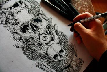 Skull details (work in progress) by EG-TheFreak