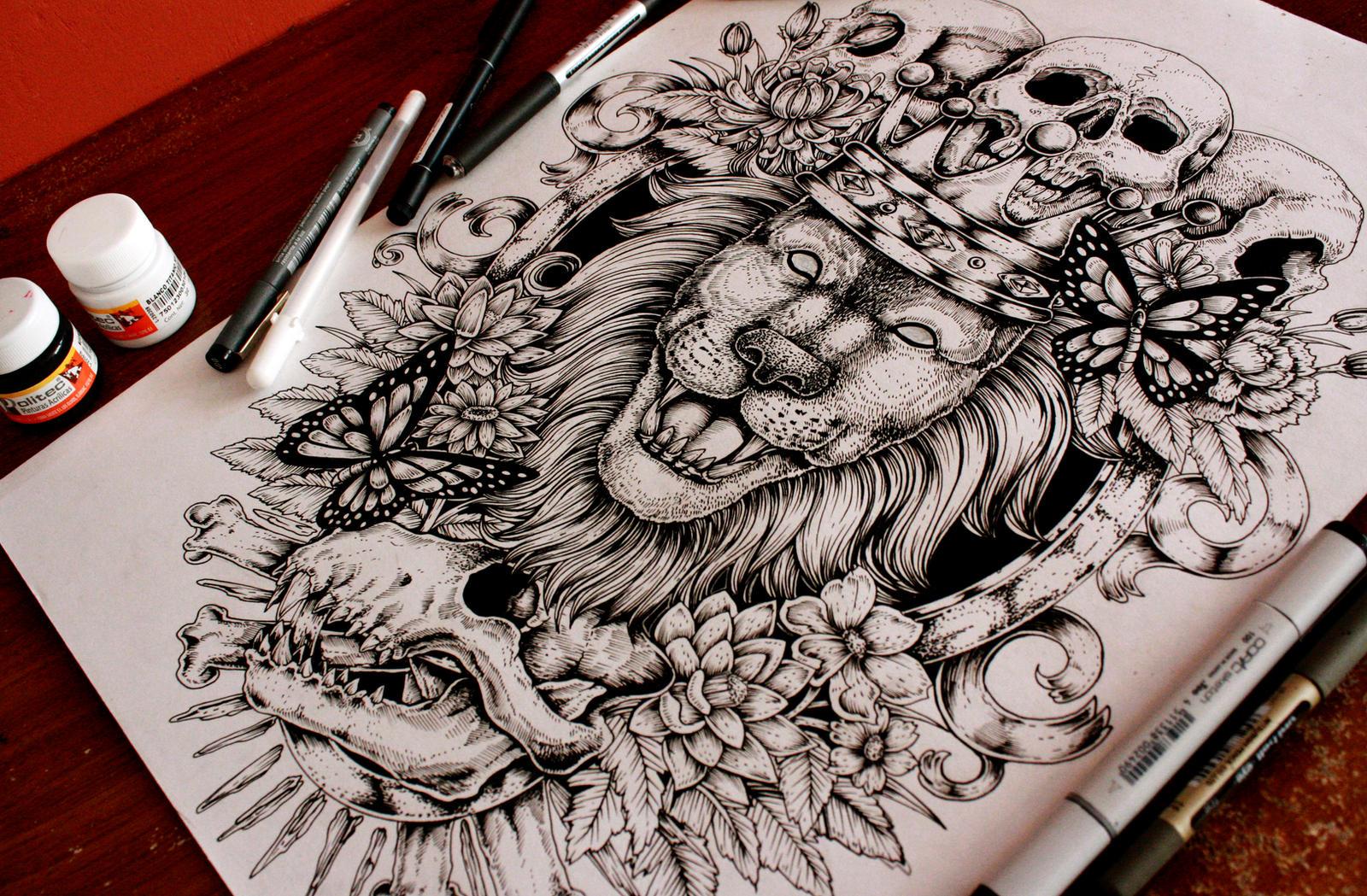 Lion Back Tattoo By EG TheFreak On DeviantArt