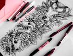 Sleeve tattoo commission  #4