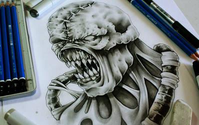 Pencil practice - Nemesis by EG-TheFreak