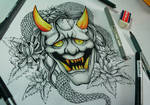 Oni tattoo - ink october day 7