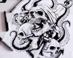 Pires Skulls, Tshirt Design