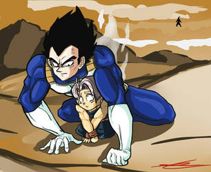 dammit kid~ Vegeta and Trunks by TheBombDiggity666