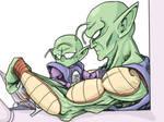 Demon King Piccolo and Piccolo. Jr