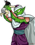 Baby Pan and uncle Piccolo.