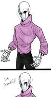 Gaster - Pink sweater challenge. by TheBombDiggity666