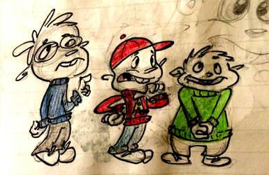 goofy chipmunks doodle by Alternativeproject