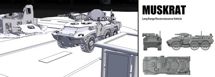 Muskrat - LRRV Long Range Reconnaissance Vehicle