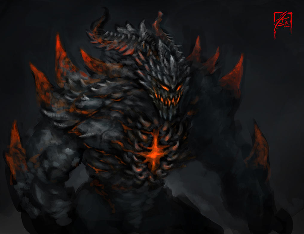 Demon Concept Art by zae1X