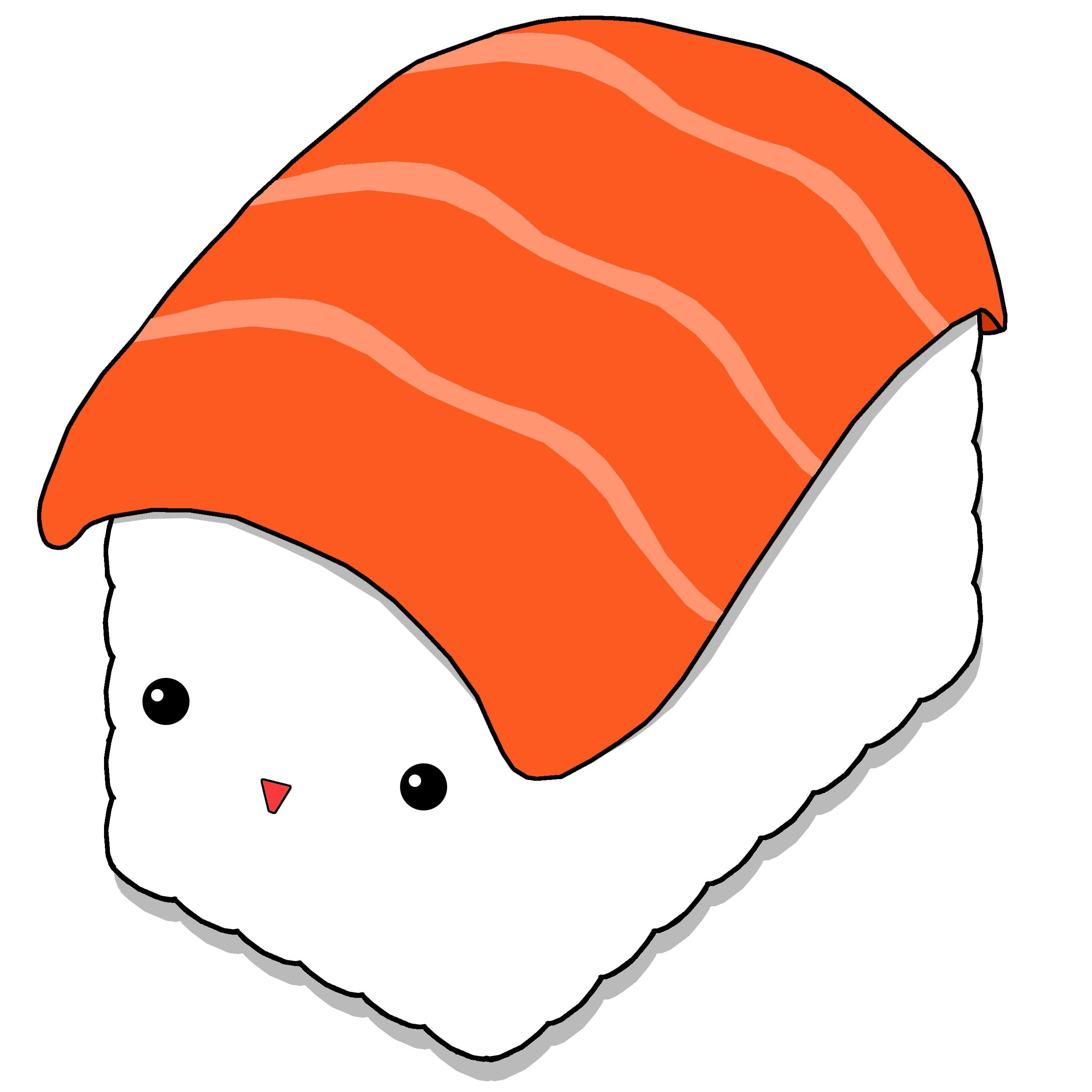 drawing kawaii sushi