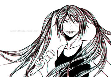 miku-chan (lineart version) by dead-viktor