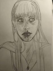 Self-portrait practice sketch 1