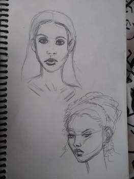 Portrait Practice - faces from Google images