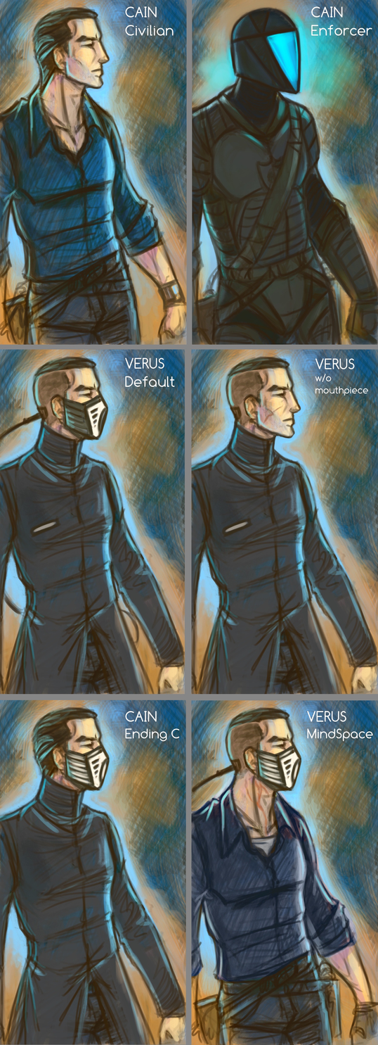 Character ref sketches - Verus by Sleyf