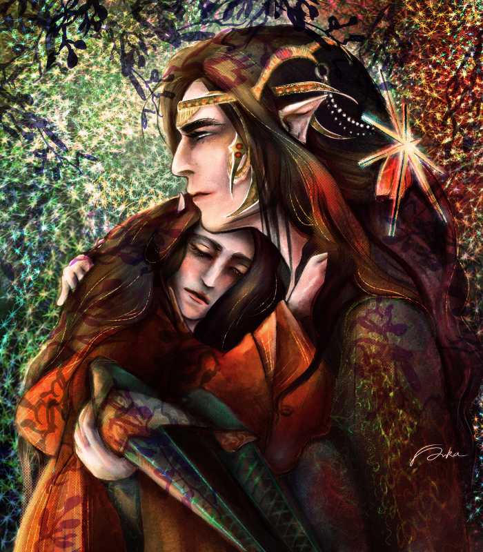 Feanor and young Curufin by Dalandel