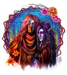 Maedhros And Maglor by Dalandel
