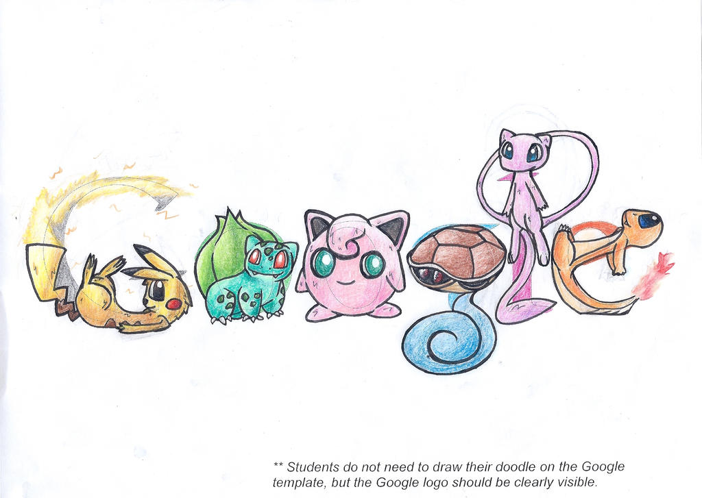 Scribble Google Drawing : Doodle google pokemon by inthivity on deviantart