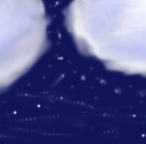 clouds with star background by deathsbell