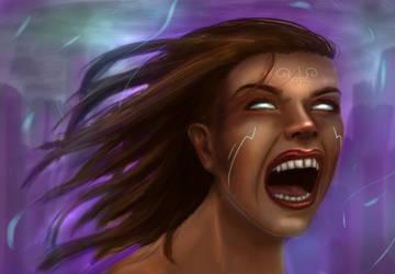 Raging Elemental Woman by Ocikitten