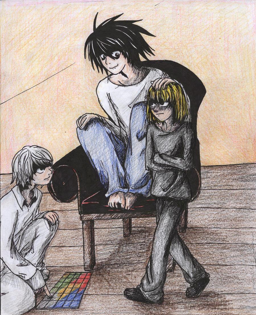 L, Near and Mello by animefan172 on DeviantArt
