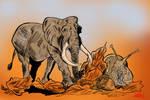 Elephant and snail