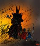 The last alliance vs Sauron