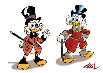 Two Scrooge's by Mikkellll