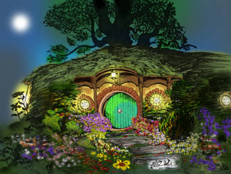 Bag End in the Shire by Mikkellll