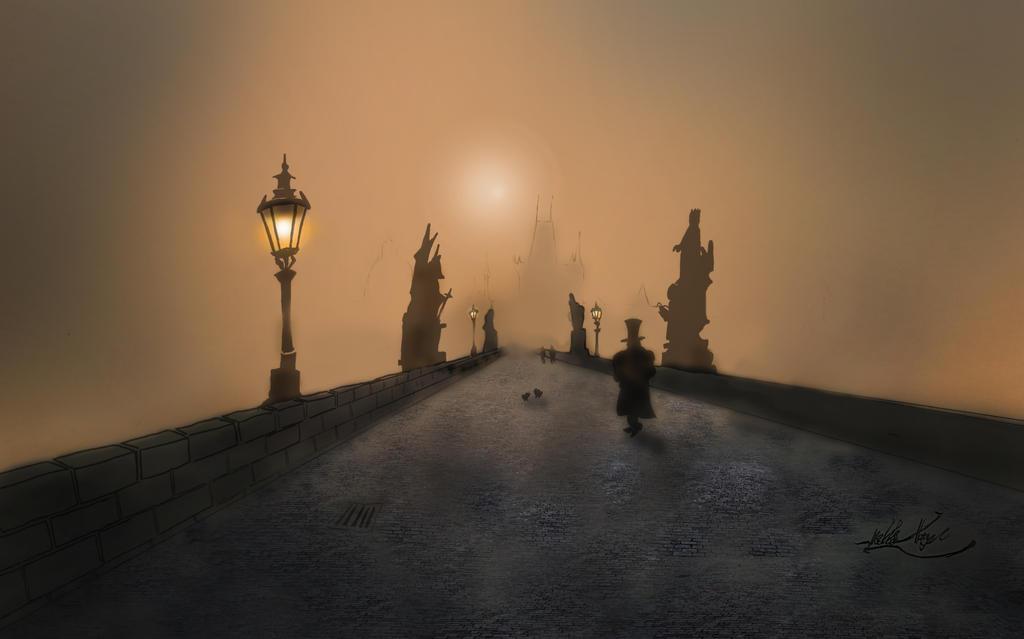 Charles Bridge in Prague by Mikkellll